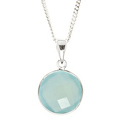 Van Peterson 925 - Designer aqua round sterling silver necklace