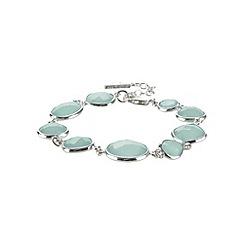 Van Peterson 925 - Designer aqua round sterling silver bracelet
