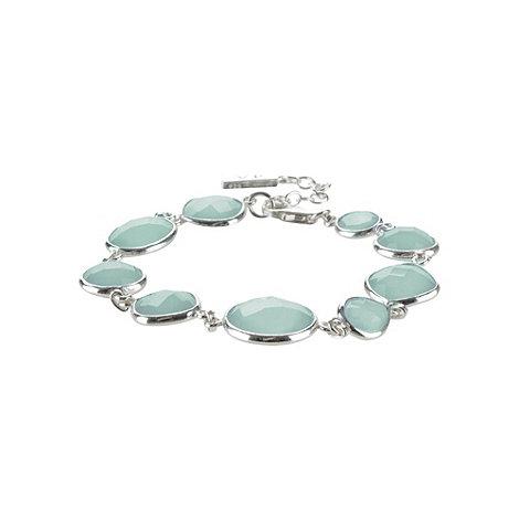 Van Peterson 925 - Sterling silver aqua round bracelet