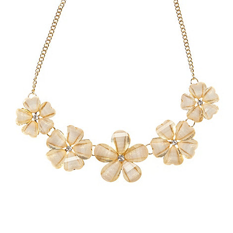 The Collection - Gold five flower necklace