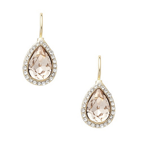 No. 1 Jenny Packham - Designer gold pave teardrop earrings