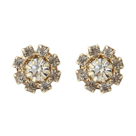 No. 1 Jenny Packham - Designer gold round gem stud earrings