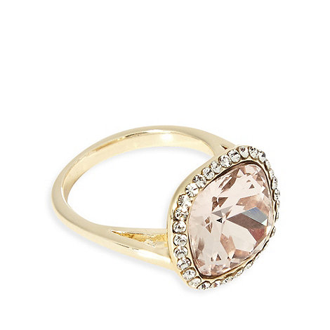 No. 1 Jenny Packham - Designer gold diamante gem cocktail ring S/M
