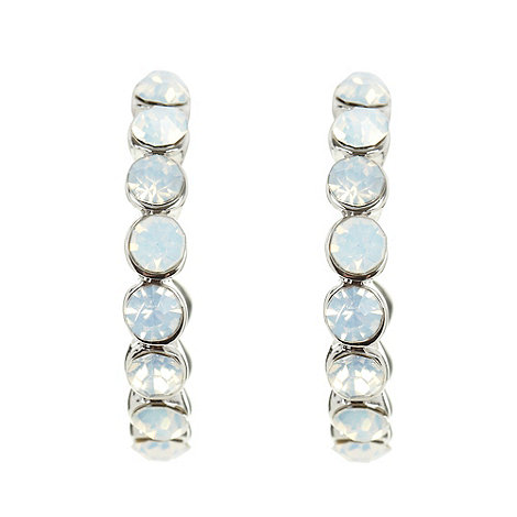 No. 1 Jenny Packham - Designer silver iridescent gem hoop earrings