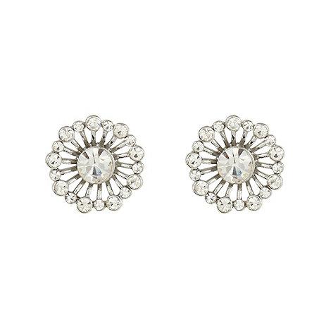 No. 1 Jenny Packham - Designer silver flower gem stud earrings