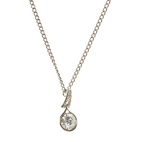 No. 1 Jenny Packham - Designer silver diamante pendant necklace