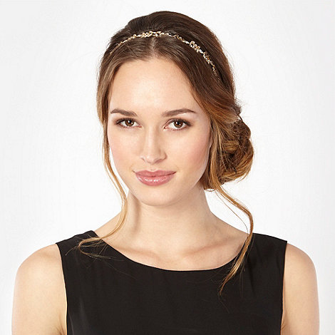 No. 1 Jenny Packham - Designer gold leaf elasticated hair band