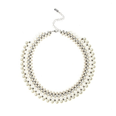 No. 1 Jenny Packham - Designer silver woven pearl collar necklace