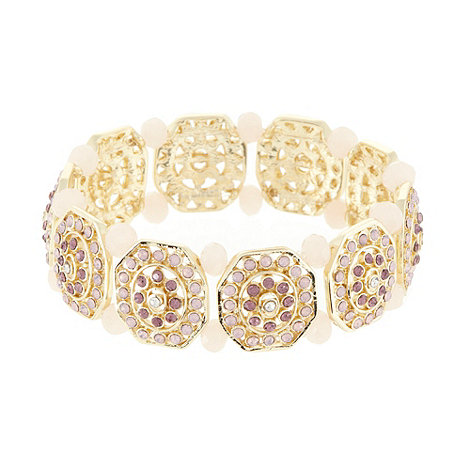 No. 1 Jenny Packham - Designer gold hexagon bracelet