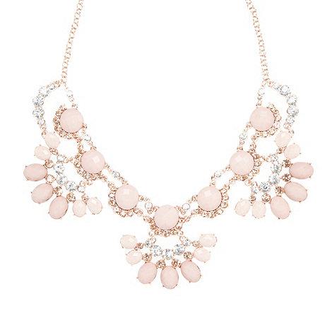 No. 1 Jenny Packham - Designer rose gold beaded necklace