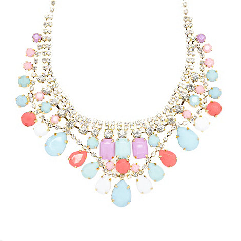 Floozie by Frost French - Gold multi gem necklace