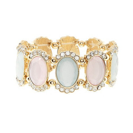 Floozie by Frost French - Gold faceted oval gem bracelet