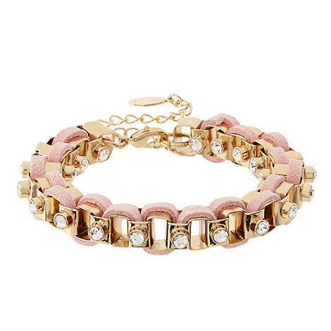 Floozie by Frost French - Pink threaded chain bracelet