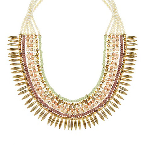 The Collection - Rose beaded bib necklace