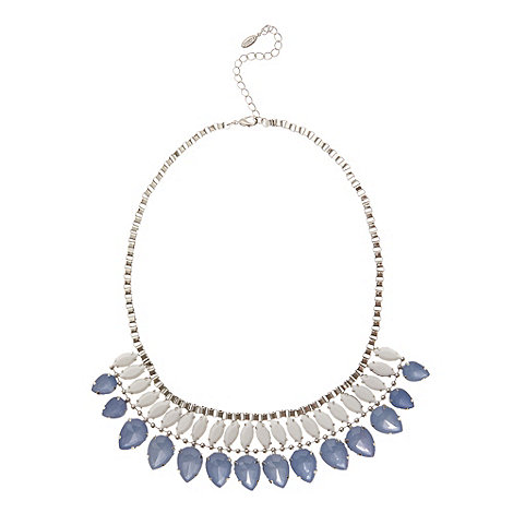 Floozie by Frost French - Blue double row gem necklace