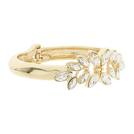 No. 1 Jenny Packham - Designer gold stone detail clamp bracelet