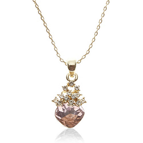 The Collection - Gold stone heart pendant necklace