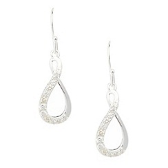 Van Peterson 925 - Designer sterling silver pave drop earrings