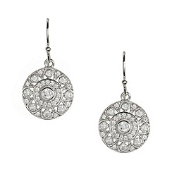 Van Peterson 925 - Designer sterling silver pave disc earrings