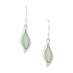 Van Peterson 925 - Designer sterling silver leaf drop earrings