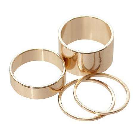 Call It Spring - Set of four gold +Heymann+ midi rings