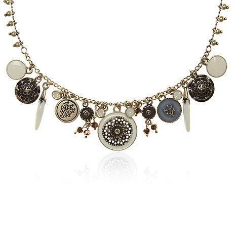 Pilgrim - Gold circle charm necklace