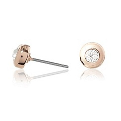 Pilgrim - Rose diamante stud earrings