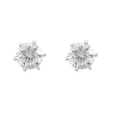 Van Peterson 925 - Designer silver cubic zirconia stud earrings