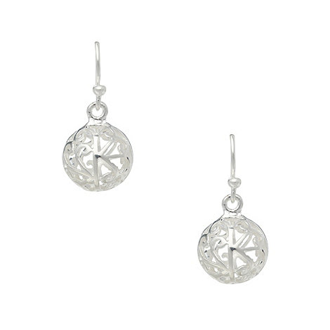 Van Peterson 925 - Designer silver filigree ball earrings