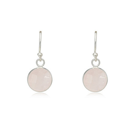 Van Peterson 925 - Sterling silver rose quartz earrings