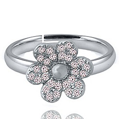 Jolie - Pave flower ring
