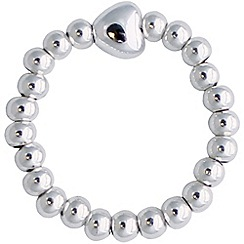 Jolie - Silver ball heart ring