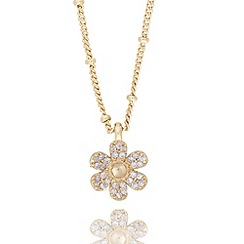 Jolie - Pave flower necklace