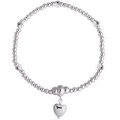 Jolie - Silver ball heart bracelet