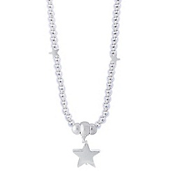 Jolie - Silver ball necklace with star pendant