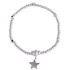 Jolie - Silver ball star bracelet