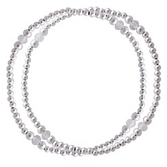 Jolie - Double silver ball crystal bracelet