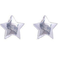 Jolie - Silver plated star stud earrings