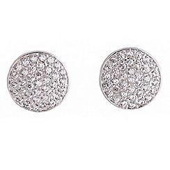 Jolie - Pave disc stud earrings