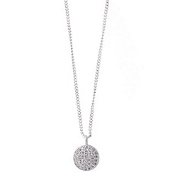 Jolie - Pave disc pendant necklace