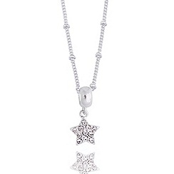 Jolie - Pave star silver necklace