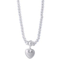 Jolie - Silver necklace with heart pendant
