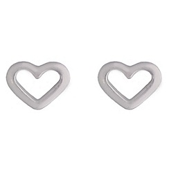 Jolie - Outline heart stud earrings