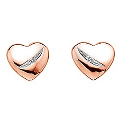 Hot Diamonds - Shooting stars heart earrings
