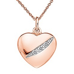 Hot Diamonds - Shooting stars heart pendant