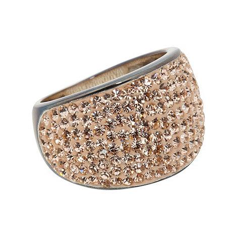 Shimla - Rose gold crystal pave ring - S/M