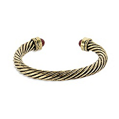 The Collection - Gold plated rope cuff bracelet