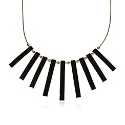The Collection - Black enamel bar necklace