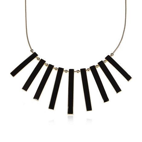 The Collection - Black enamel bar necklace
