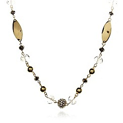 The Collection - Gold plated fireball leaf necklace